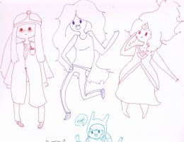 Lunch Time Doodles- Adventure Girls by NeonTeddyForever