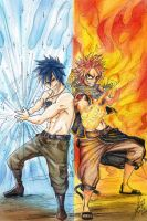 Fairy Tail : Natsu and Grey by Stray-Ink92