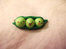 Polymer Clay Peas in a Pod by Number1FMAfangirl