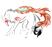 Okami Tattoo by Blue-Storm-Spirit