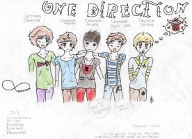 One Direction Chibis by Mia-Lapera