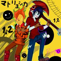 Matryoshka Time With Flame Prince And Marshall Lee by RavenBlood1011
