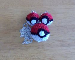 Pokeball Jewelry Set by QueenNekoyasha