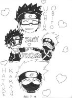 Kakashi and Obito, Friendship by Lillgoban