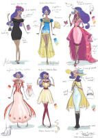 Rarity Fashion Designs by Glasmond