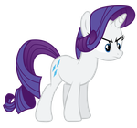 Angry Rarity Vector. by PaulyVectors