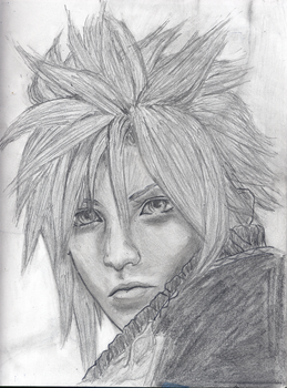 Cloud Strife Final Fantasy VII by StephenDarvilleArt