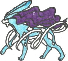 Suicune Coloured by CoolMan666