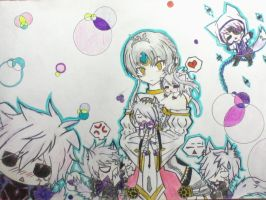.:Eve and her pets:. by Mewtwosama10299