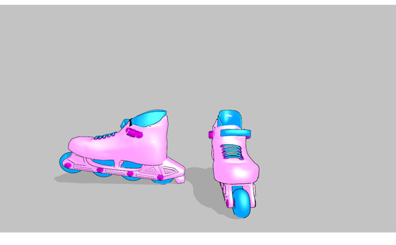 MMD Pink Skates WITH BONES by amiamy111