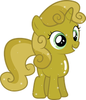 Golden Sweetie Belle by Silentmatten