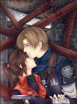 Leon x Claire:Stay close to me by Iwonn