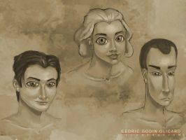 Portraits Sketches by CDrice