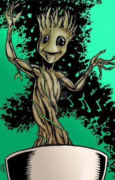 Baby Groot 11 by 17 by kennykeen