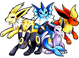 Student's Choice Eeveelutions by raizy