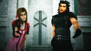 MMD Final Fantasy VII Aerith and Zack by blackSoul1890