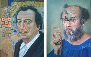 Dali and Klimt in switched positions by AleksandarskiArt
