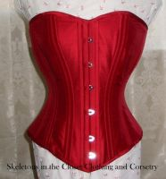 Red silk corset by BlackvelvetSITC
