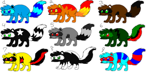 FREE raccoon adoptables! {OPEN} by Obsidianthewolf