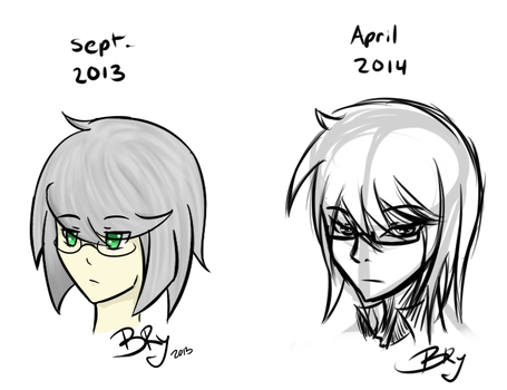 Mari Tempest 2013 vs 2014 by B-Ry-Sun