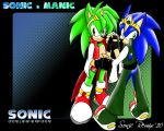 Sonic x Manic wallpaper by SonicRemix