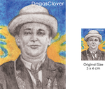 Seventh Doctor - Pencil Mini Portrait by DegasClover