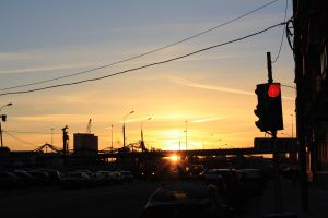 Sunset in Moscow by LinaAir
