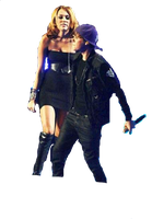 Miley con justin png 2 by DemiLovatoEditions