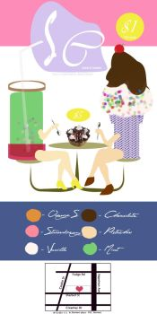 Icecream shopp poster by Cylli