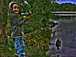 My sons 1st fishing adventure by tripptaylor