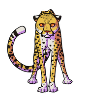 Staring Cheetah Badge by Rookie141
