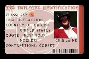 devID - RED Employee Card by chibijaime