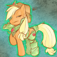 Corrupt Applejack by PonySocialExperiment