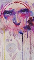 ART COLLAGE with textures pastel tender by CoffeeByCoffee