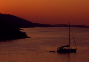 Sloop after Sunset by Gianni36
