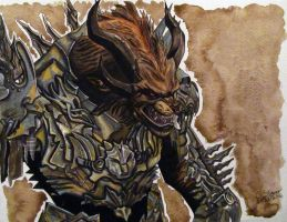 Rytlock Brimstone Watercolour + Ink Painting by LethalChris