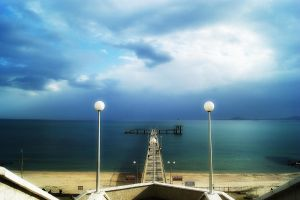 The pier of Burgas by INTRU88