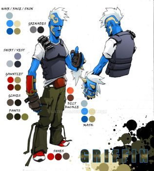 griffin design sheet by lazeedog