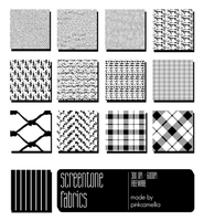 Screentones Fabrics Pack by pinkcamellia