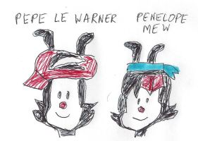 Pepe Le Warner and Penelope Mew by dth1971