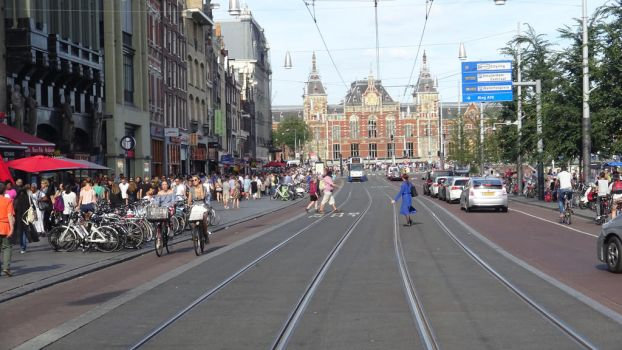 road to amsterdam central train station by retmans