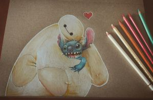 Baymax and Stitch by SpiritOfsouls
