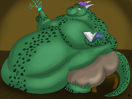 Fat Argonian Mage by Big-Wolf