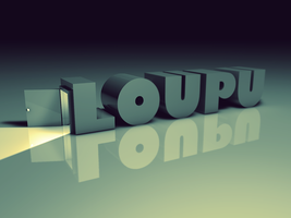 Loupu typography wallpaper by Loupu