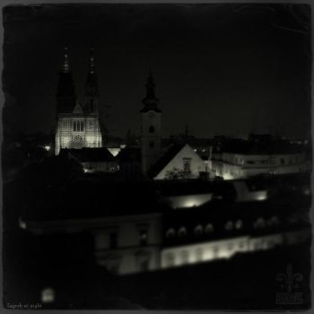 Zagreb at night by rob-art