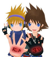 Sora and Neku by dreamychocola