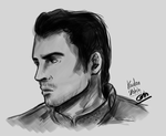 Kaidan Sketch - Mass Effect 3 by LegolasxAragorn