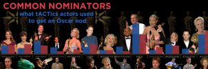 Oscars Infographic: Common Nominators by maxevry