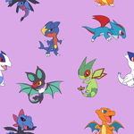 Chibi Dragon Pokemon Background by VibrantEchoes
