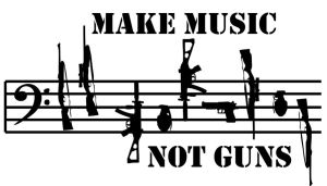 Make music not Guns by heavenideas